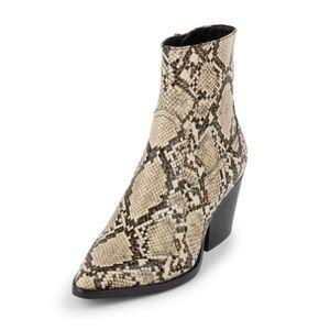 Jeffrey Campbell Kelam-2 Beige Snake Print Boots